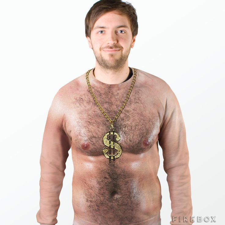 70s Hairy Chest Sweater Lol, gross