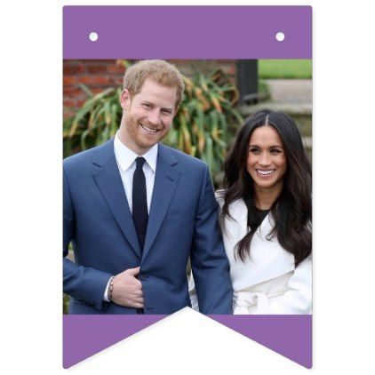 The Wedding of Prince Harry and Meghan Markle Bunting Flags - wedding decor marriage design diy cyo party idea