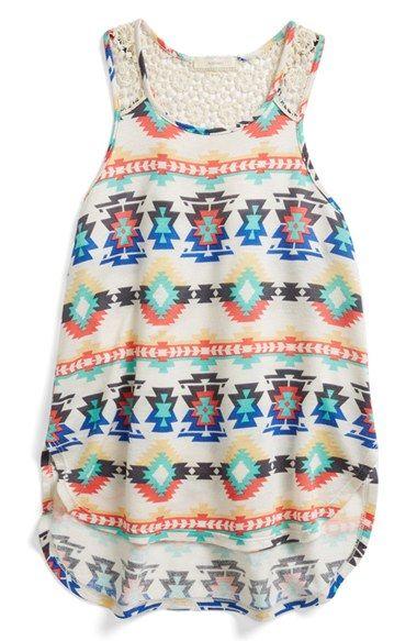 Soprano Crochet Tank - Global prints at Nordstom Tween fashion, tween clothing, tween girls