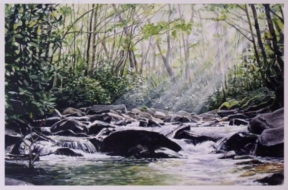 Forest - Acrylic | Mynderd Vosloo | Painters Online