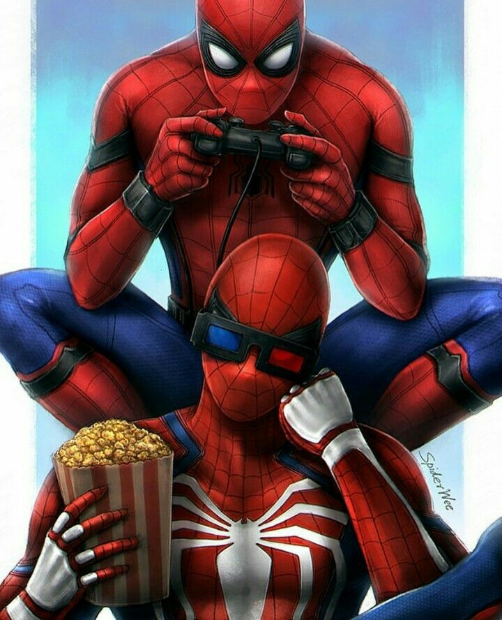 Spider Man homecoming and Spiderman PS4.