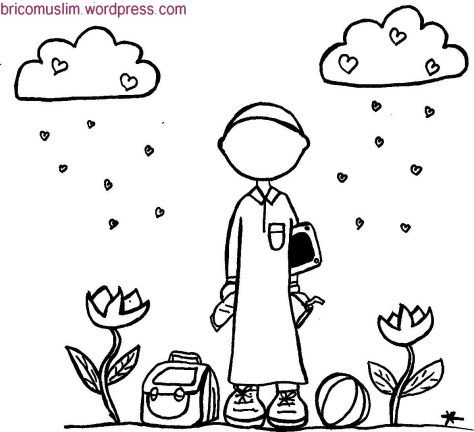 coloriage, colouring,islam,activité,activities islamic