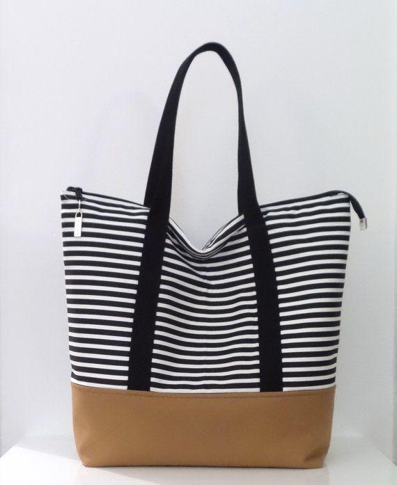 25  best ideas about Zippered Tote Bag on Pinterest | Zipper ...