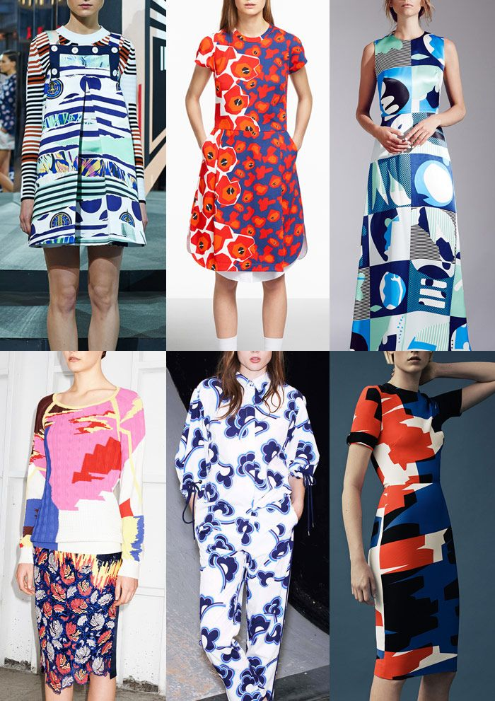 Resort 2015 Catwalk Print & Pattern Trend Highlights Kenzo / Jill Sander / Novis / Peter Pilotto / See by Chloé / Thierry Mugler