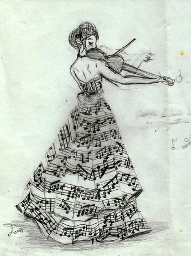 Violin and Music Dress                                                                                                                                                                                 More