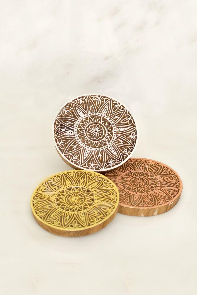 Sunflower Wooden Coasters - Chan Luu
