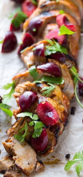 Pork Tenderloin With Fresh Cherry And Chile Salsa Recipe — Dishmaps