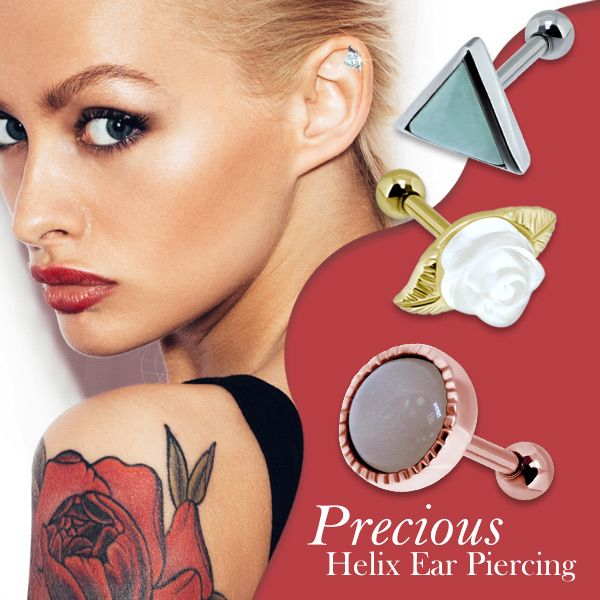 Precious Helix Ear Piercing from KS Thailand. wholesale Body Piercing and Body Jewelry. Silver Jewelry, Silver Helix Ear Piercing.