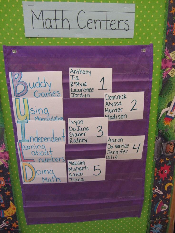BUILD math center groups.