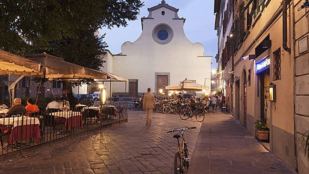 Seek out an authentic Italian lifestyle in Santo Spirito, Florence.