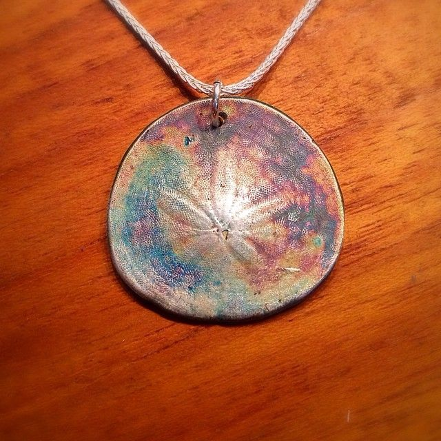 Extra large sterling silver sand dollar pendant from BC's central coast. $155