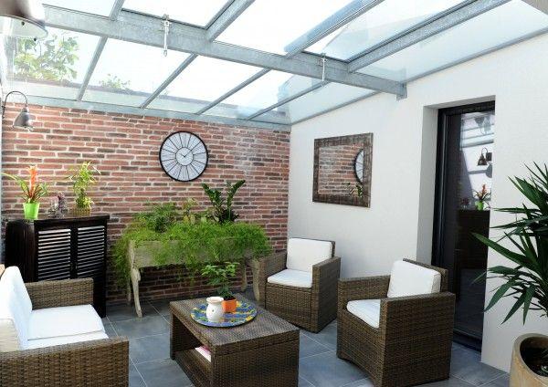 une maison organis e autour de son patio for the home. Black Bedroom Furniture Sets. Home Design Ideas
