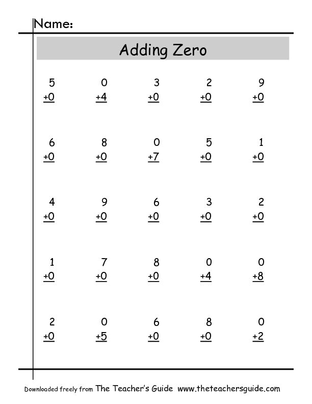 Pleasing Add Zero Math Worksheets With Adding Zero Worksheets Free Worksheets Library Math Fact Worksheets Math Worksheets Worksheets Free