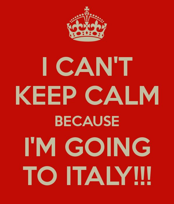 I'm going to Italy! (Vision)