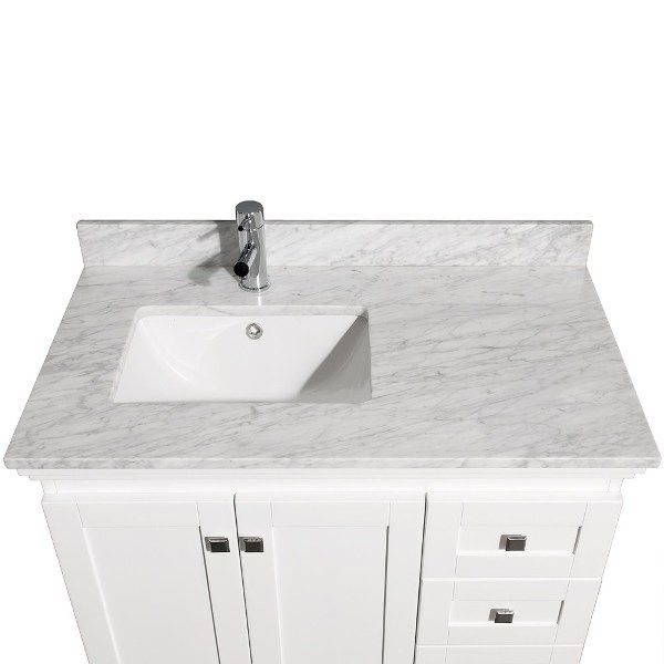 Bathroom All In White For The Sink With A Size 36 Inch Bathroom Vanity The  Best