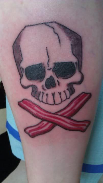 SKULLS & BACON tattoo