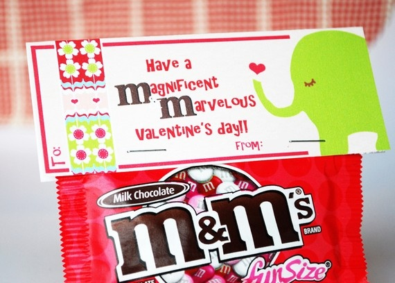 Valentine M&M Treat Topper  blank by cardvarkdesigns on Etsy, $8.00