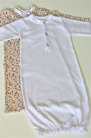 Pattern and tutorial for baby gown.