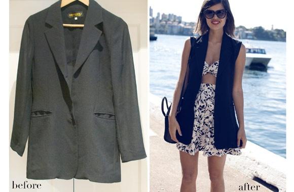 A Pair & A Spare: DIY deconstructed blazer | Harper's BAZAAR