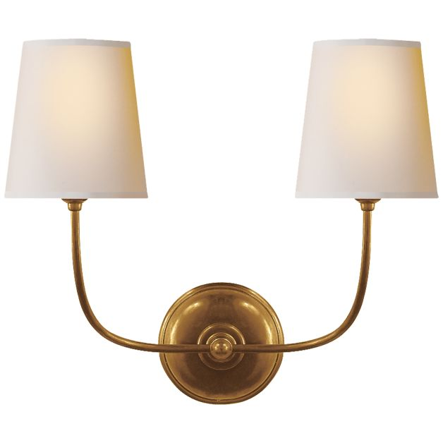 Vendome Double Sconce With Images Visual Comfort Wall Lights Visual Comfort Lighting