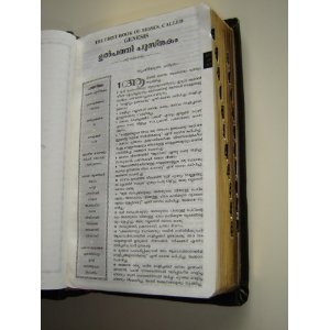 Revised Modern Malayalam Bible / Aaradhama Bible VISHUDHA SATHYAVEDAPUSTHAKAM by Bro.Dr.Mathews Vergis / Leather Bound, Godlen Edges, THumb Index, COLOR ILLUSTRATIONS / VSV-RMMV Malayalam is a language of India   $89.99