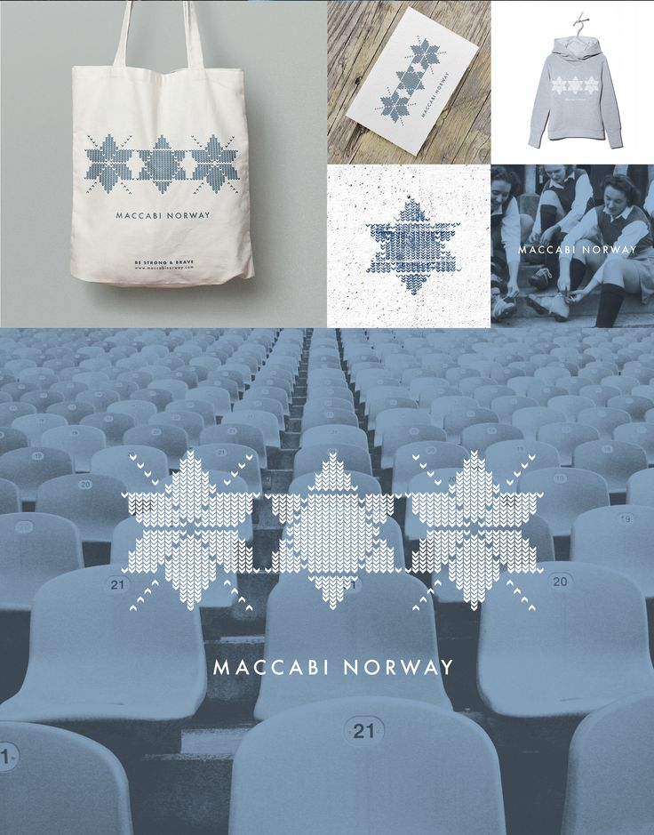 Maccabi Norway is a Jewish organization working to reinforce the Jewish cohesion in Norway through sports. The task was to create a new logo for Maccabi Norway and sweatshirts for the team. Maccabi logo design Igor Kubik