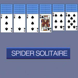 Spider solitaire is een variant van het kaartspel patience. Het is de bedoeling om de kaarten van de tien stapeltje zo snel mogelijk weg te spelen.