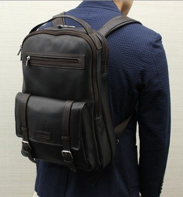 Chiarugi leather backpack with laptop or iPad compartment Italy