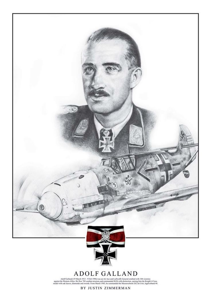 Messerschmitt Bf 109 - Adolf Galland