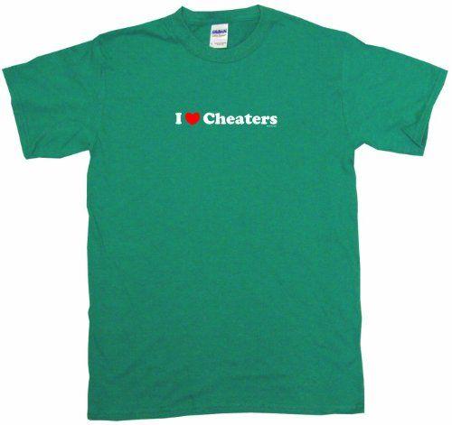 I Heart Love Cheaters Mens Tee Shirt 4X-Kelly Green