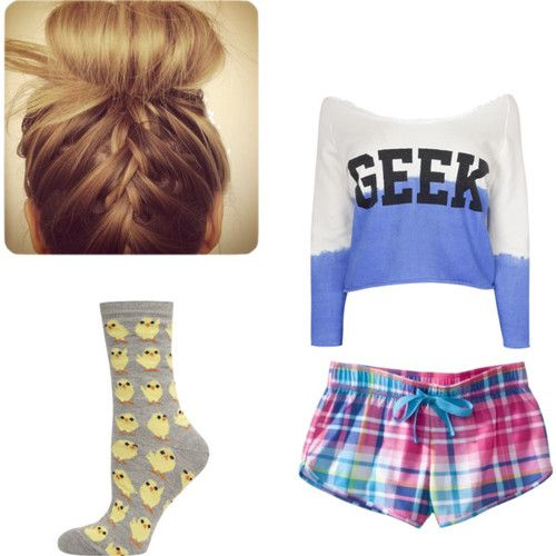 Cute Pajama Outfits for Teenagers | ... tags for this image include: cute, geek, outfit, pajamas and shorts