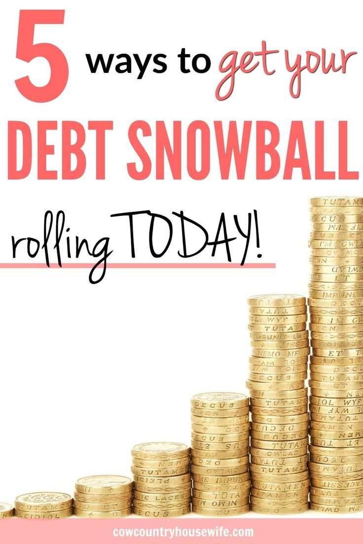 Ready to get out of debt? The Debt Snowbal Method is the best way to get out of debt very quickly. These tips are great! Everything you want to know about the debt snowball method from Dave Ramsey. 5 Ways to Get Your Debt Snowball Rolling Today.