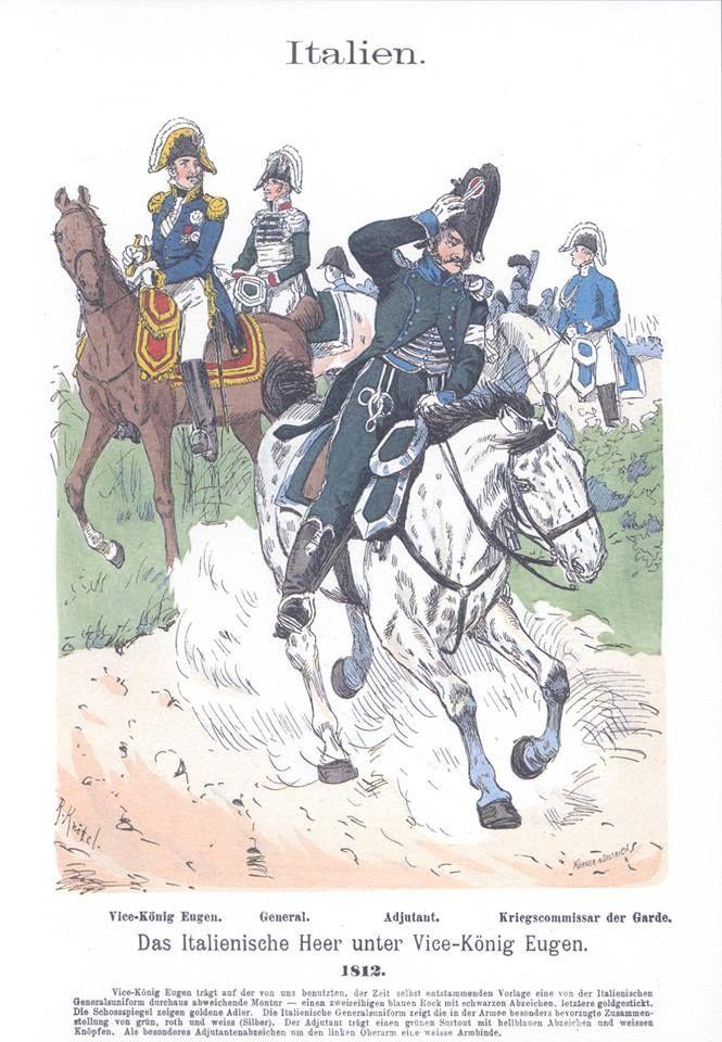 Band III #58.- Italien. Das italienische Heer unter Vice-König Eugen. 1812.