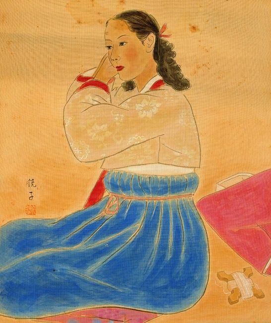 (Korea) Korean style Make up by Chun Kyung-ja (1924-2015).