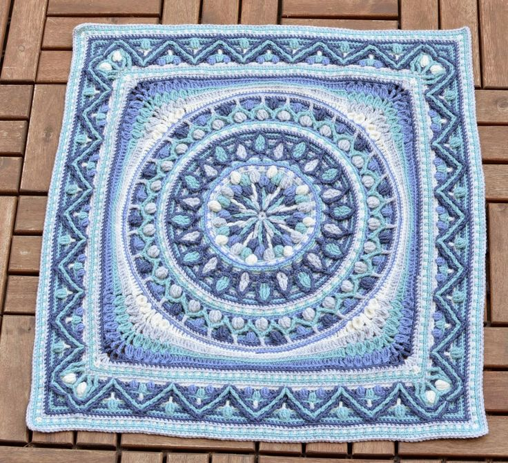 Large Mandala Square - Pattern Coming (according to LILLABJÖRNCROCHET in the comments section)