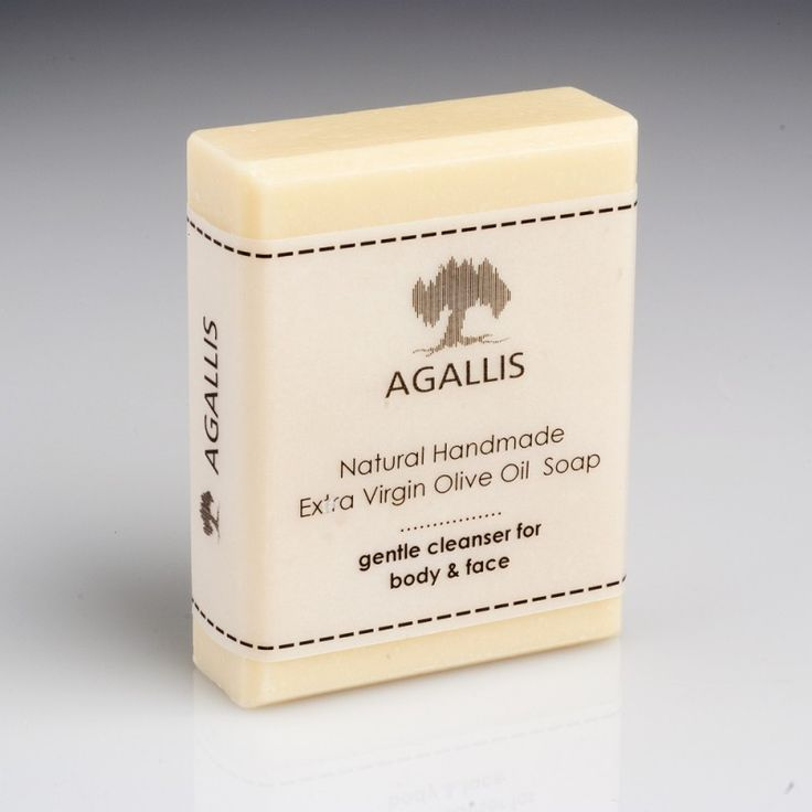 """Agallis"" Extra Virgin Olive Oil Soap, Classic Olive Soap with Coconut Oil.  It is an excellent soap made of extra virgin olive oil with the addition of pure ingredients, such as coconut oil.    To be used by all skin types.  This is an amazing soap which offers optimal cleansing properties , with rich velvety foam due to the  addition of coconut oil, it is ideal for all skin types."