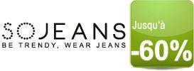 + de 100 grandes marques de jeans jusqu'à -50% chez SoJeans