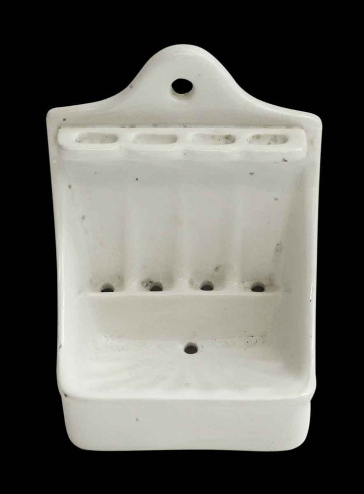 Vintage White Soap Dish & Toothbrush Holder Beatty St