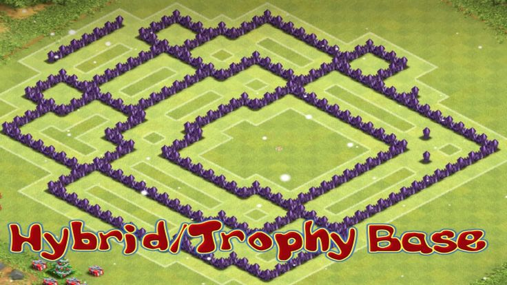 Clash of Clans Speed Build TH8 Hybrid/Trophy Base 4 Mortars #youtube #clashofclans #SpeedBuild #mortars #TH8 #townhall8