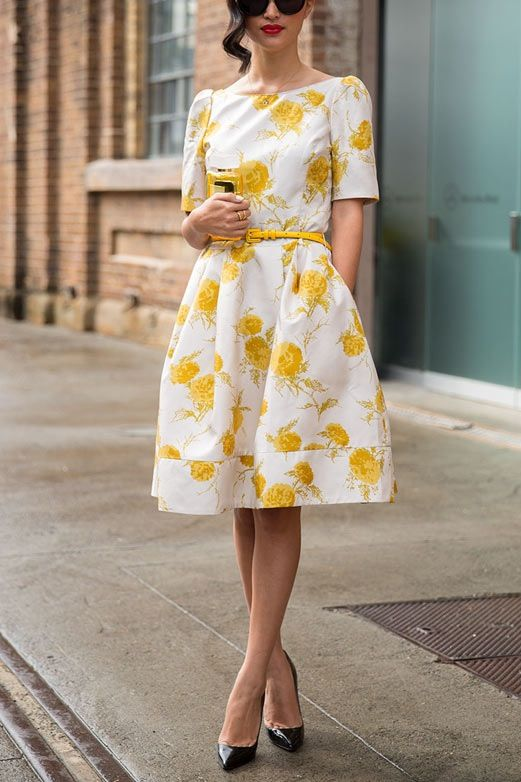 The Best Summer Dresses for Every Body Type   via @PureWow- Love the Print