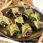 Courgette-rolletjes met gerookte zalm en nori - recept - okoko recepten