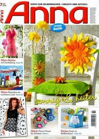 Журналы по вязанию и рукоделию: Anna №7 2014