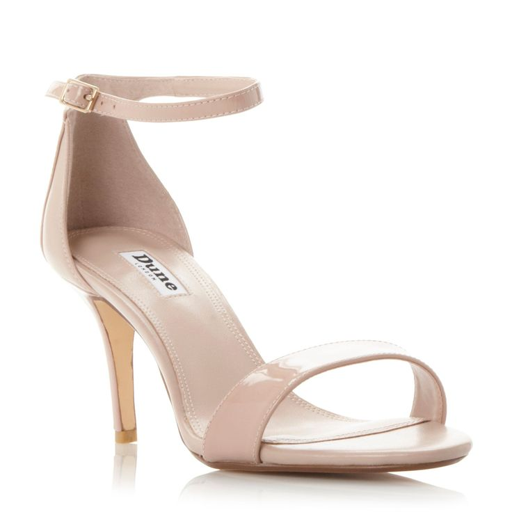 Dune Mariee two part mid heel sandals, Blush
