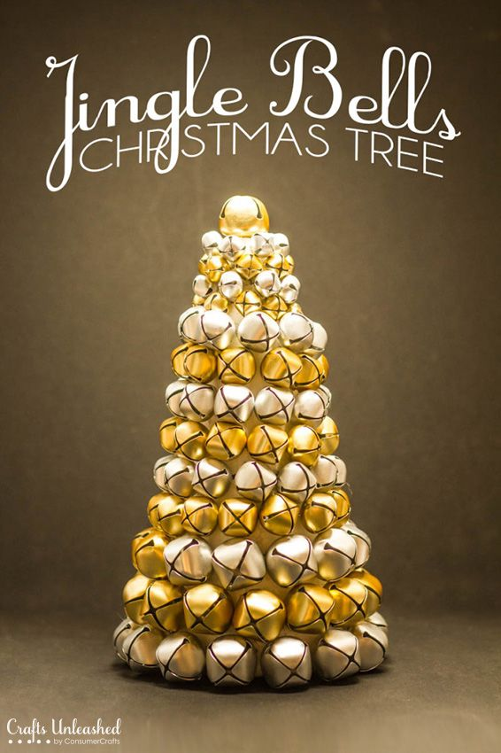 Jingle Bell Christmas Tree DIY - With a little time and a lot of bells, you can make this gorgeous Jingle Bell Tree!