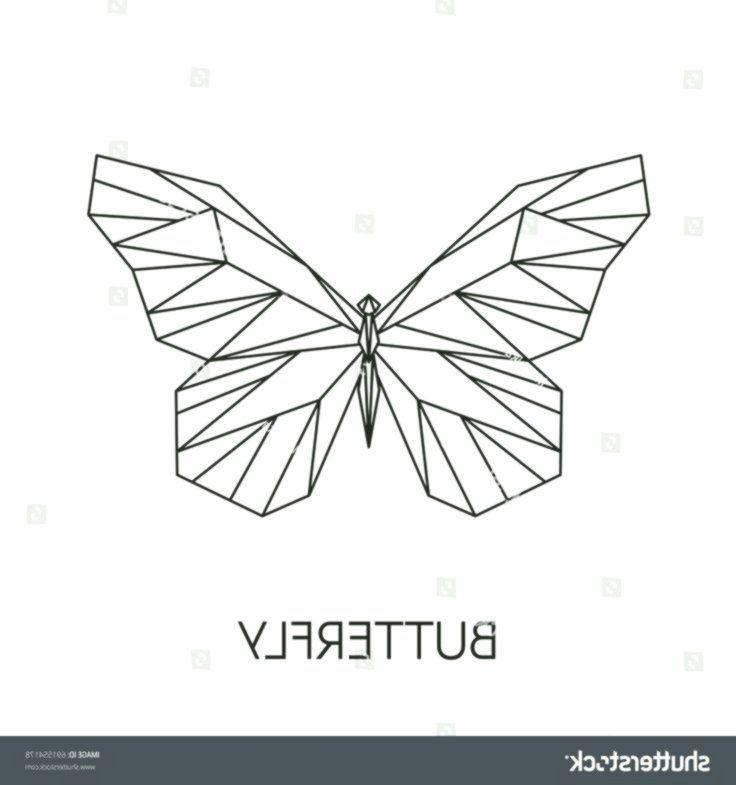 Vector Abstract Polygonal Butterfly Geometric Linear Butterfly Abstract Butterfly Geometric Linea Butterfly Drawing Geometric Drawing Geometric Tattoo