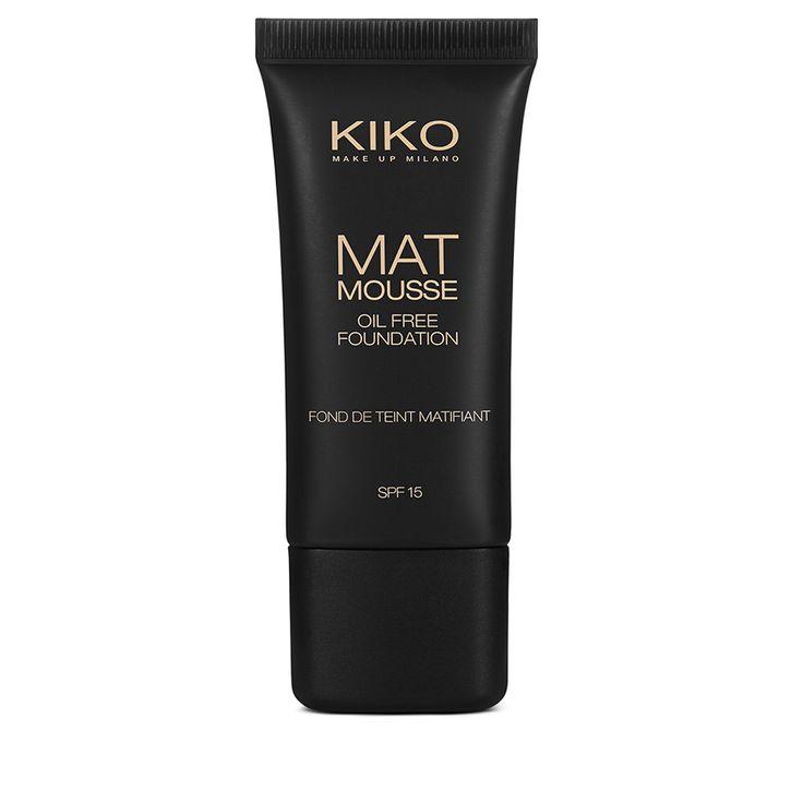 Mat Mousse Foundation è il Fondotinta KIKO in mousse arricchito con un mix di attivi dall'azione matificante. Ideale per pelli normali e oleose.