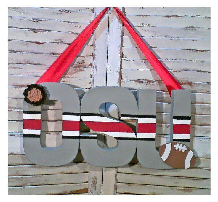 Ohio State Buckeyes OSU Door Hanger