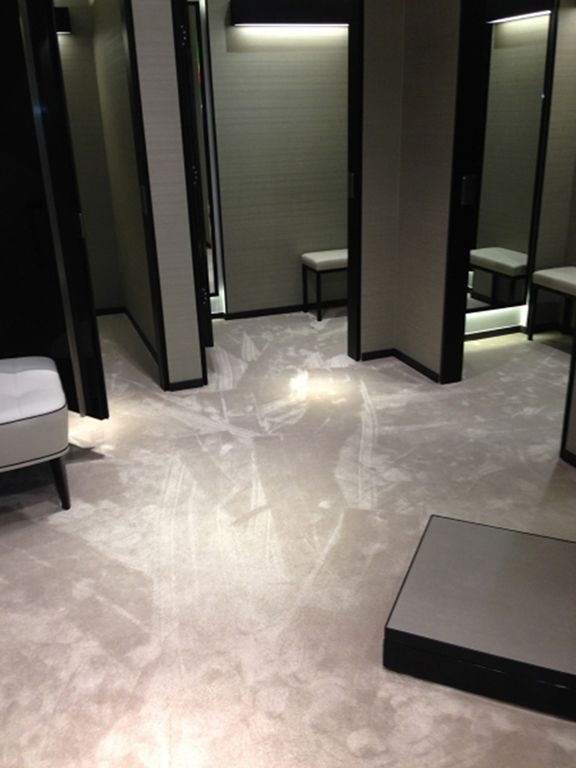 While this carpet is used for commercial use, nothing stops the feel and look in a walk-in closet #InteriorDesign #WalkinCloset #Carpets #LuxuryInteriors