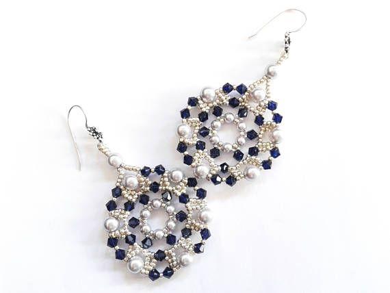 orecchini swarovski orecchini tondi perle e bicono