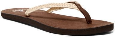 Reef Downtown Truss Brown Flip Flop (Woman)